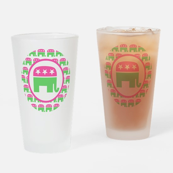 Preppy Republican Drinking Glass