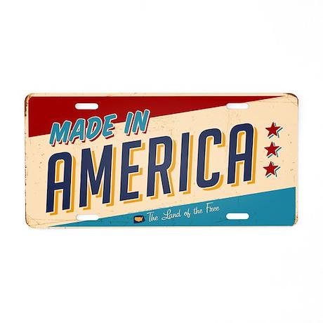 "Vintage ""Made In America"" Aluminum Licen"