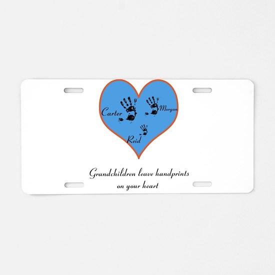 Personalized handprints Aluminum License Plate
