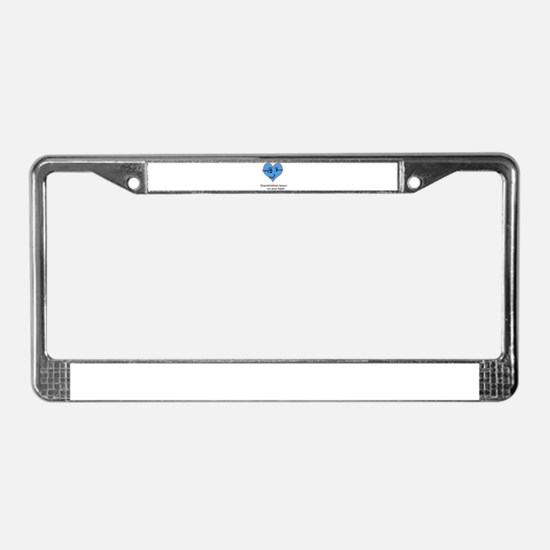 Personalized handprints License Plate Frame