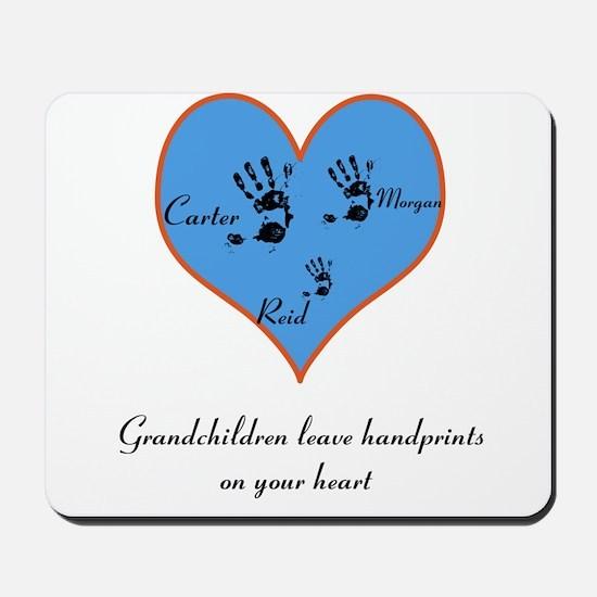 Personalized handprints Mousepad