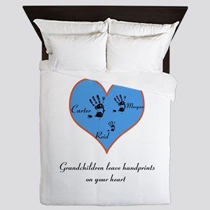 Personalized handprints Queen Duvet