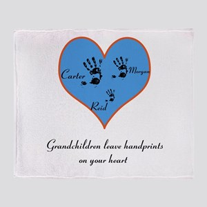 Personalized handprints Throw Blanket