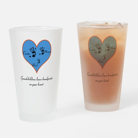 Personalized handprints Drinking Glass
