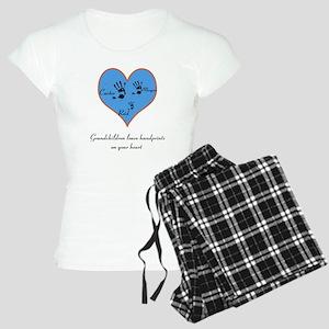Personalized handprints Women's Light Pajamas