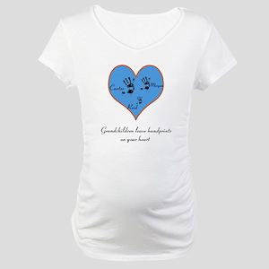 Personalized handprints Maternity T-Shirt