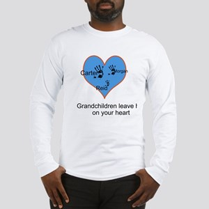 Personalized handprints Long Sleeve T-Shirt