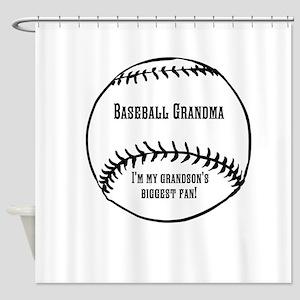 Baseball Grandma Shower Curtain