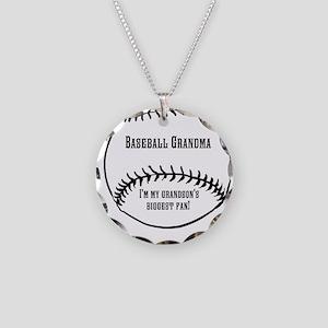 Baseball Grandma Necklace Circle Charm
