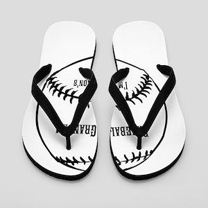 Baseball Grandma Flip Flops