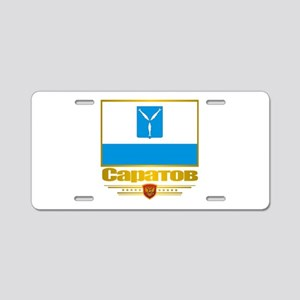 Saratov Flag Aluminum License Plate