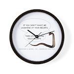 Silly Beliefs Wall Clock