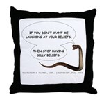 Silly Beliefs Throw Pillow