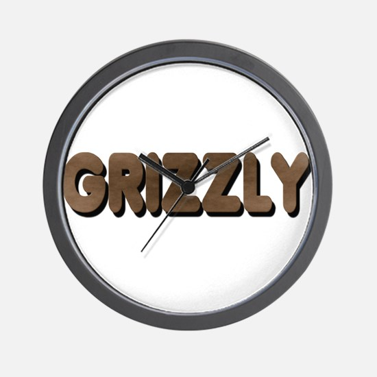 GRIZZLY-BROWN FELT LOOKING TE Wall Clock