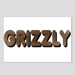 GRIZZLY-BROWN FELT LOOKING TE Postcards (Package o