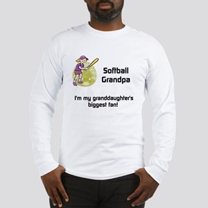 Personalized Softball Grandpa Long Sleeve T-Shirt