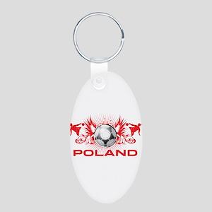 Born Polish Aluminum Oval Keychain