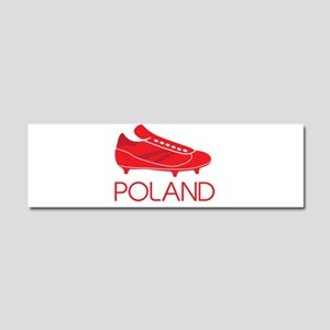 Poland Footie Car Magnet 10 x 3