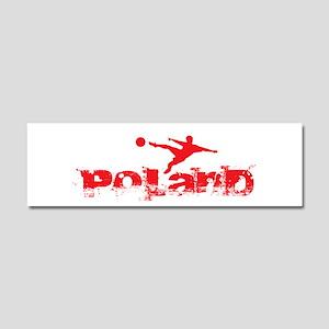 Poland Forever Car Magnet 10 x 3