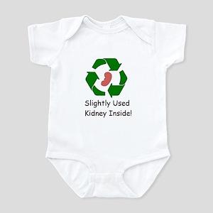 Slighty Used Kidney Inside Infant Bodysuit