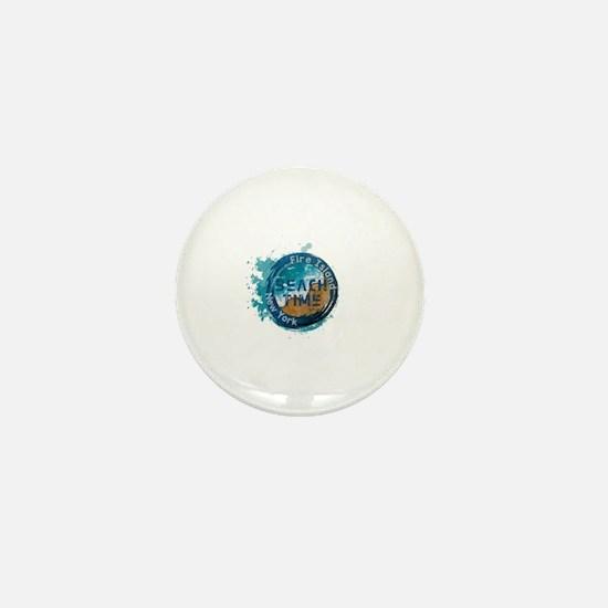 Cool Fire island Mini Button