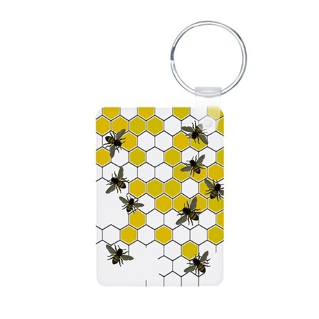 FF 3 bees.PNG Aluminum Photo Keychain