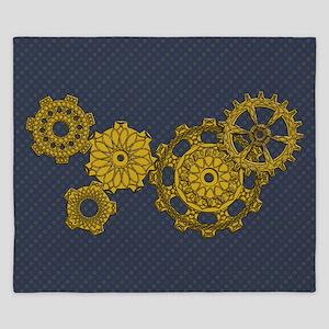 Woven Clockwork King Duvet