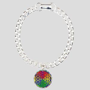 Flower of Life Charm Bracelet, One Charm