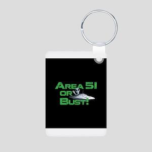 Area 51 or Bust! Aluminum Photo Keychain