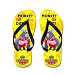 Monkey On Duty Girl's Flip Flops