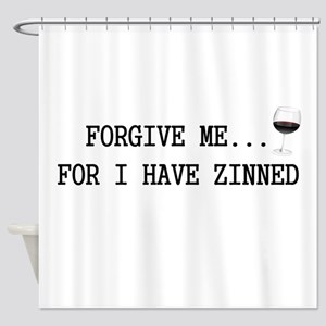 Forgive me... for I have zinned Shower Curtain