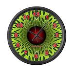 Green on Green Optical Illusion Large Wall Clock