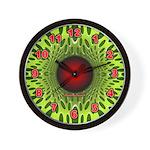 Green on Green Optical Illusion Wall Clock