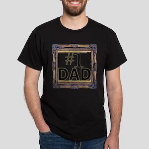 #1 dad, number 1 dad, number one dad Dark T-Shirt