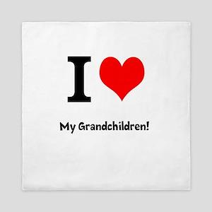 I love my grandchildren Queen Duvet