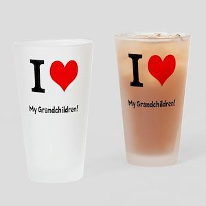 I love my grandchildren Drinking Glass