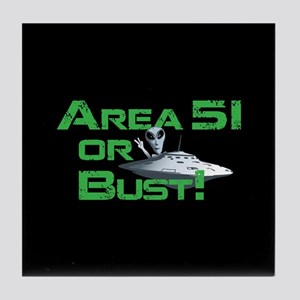 Area 51 or Bust! Tile Coaster