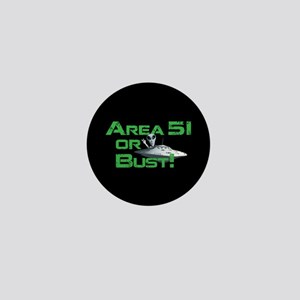 Area 51 or Bust! Mini Button
