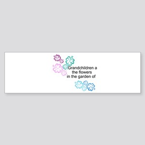 Grandchildren are flowers Sticker (Bumper)