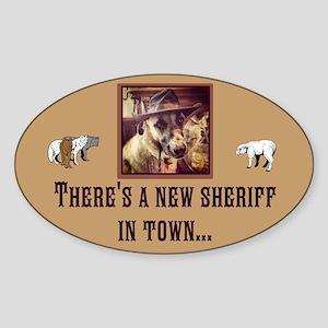 New Sheriff Sticker (Oval)