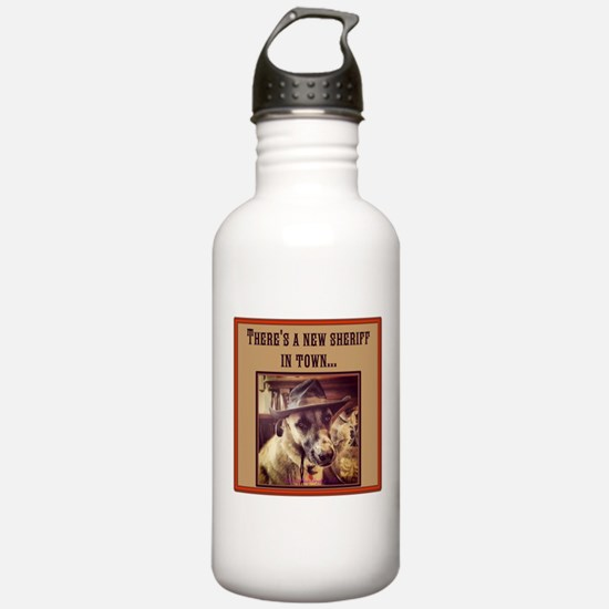 New Sheriff Sports Water Bottle
