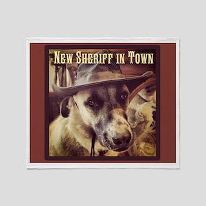 New Sheriff Throw Blanket