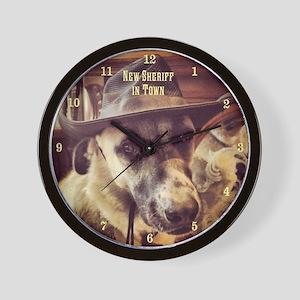 New Sheriff Wall Clock