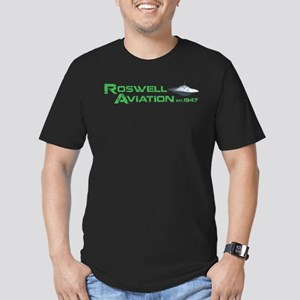 Roswell Aviation Men's Fitted T-Shirt (dark)