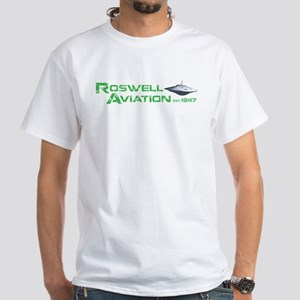 Roswell Aviation White T-Shirt