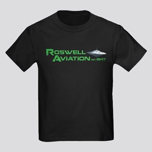 Roswell Aviation Kids Dark T-Shirt