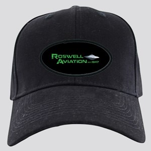 Roswell Aviation Black Cap