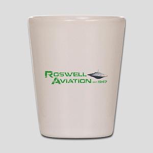 Roswell Aviation Shot Glass