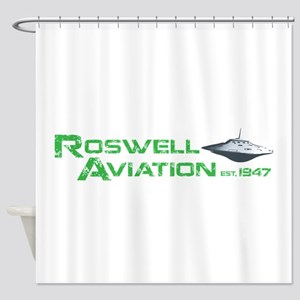 Roswell Aviation Shower Curtain