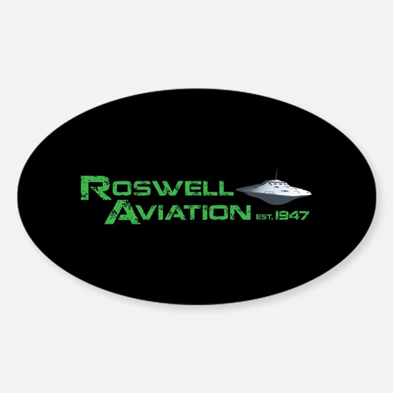 Roswell Aviation Sticker (Oval)